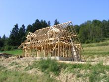 chata z gliny baligród, bieszczady